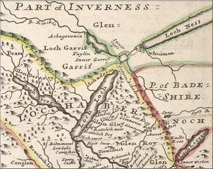 Herman Moll's map of the East Part of the Shire of Inverness