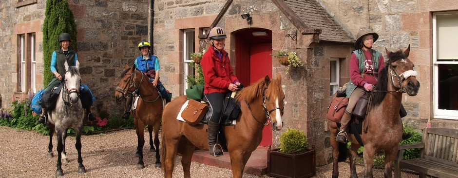 Travel by horseback to the Great Glen Hostel